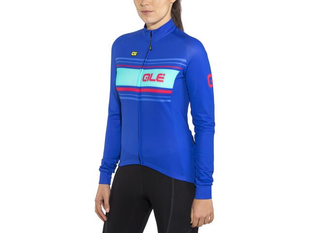 Alé Cycling Solid Sinuosa Langærmet cykeltrøje Damer blå | Trøjer